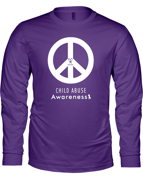 Peace Awareness Unisex Long Sleeve T-Shirt - DARK COLORS
