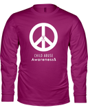 Peace Awareness Ladies Long Sleeve T-Shirt - DARK COLORS