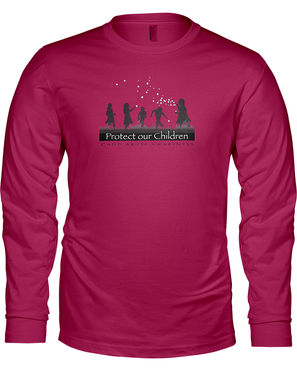 Protect Our Children Ladies Long Sleeve T-Shirt