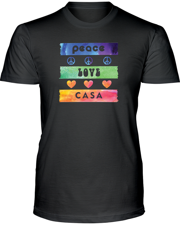 Splash Peace Love CASA Unisex Short Sleeve T-Shirt - Colors