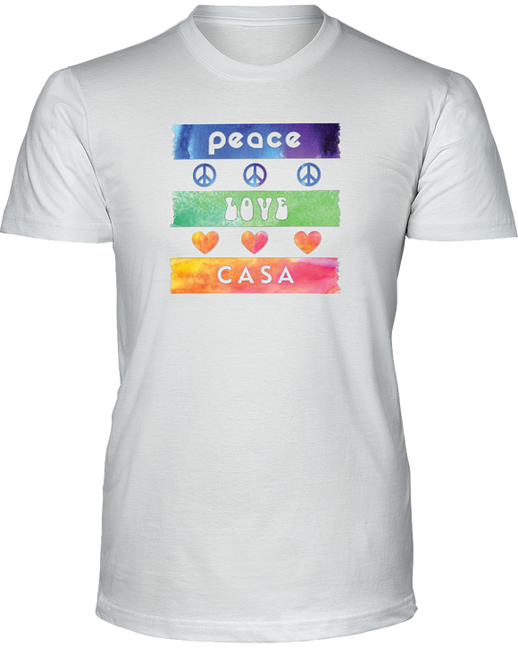 Splash Peace Love CASA Unisex Short Sleeve - White