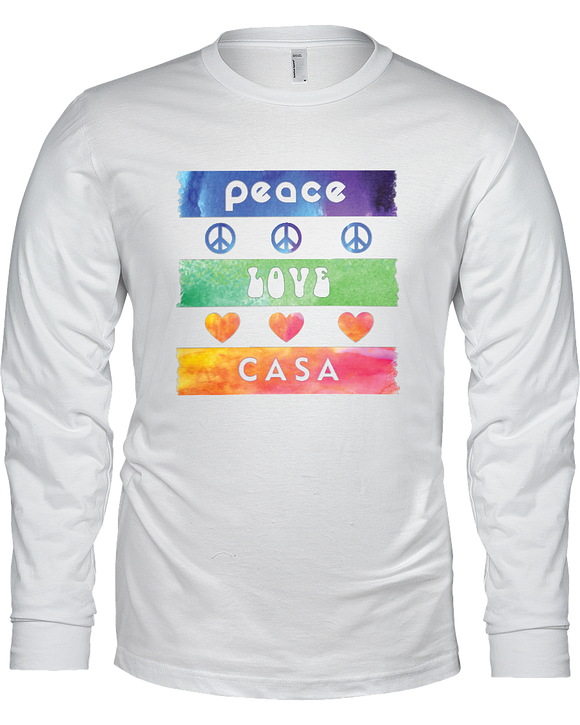 Splash Peace Love CASA Ladies Long Sleeve - White