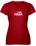 CASA OF THE SOUTH PLAINS / I AM CASA - LADIES V-NECK TEE - RED OR NAVY