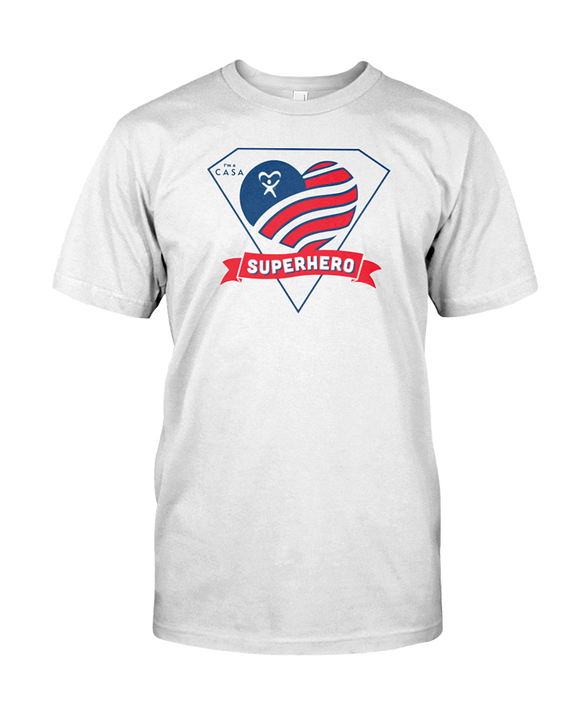 Superhero Heart Unisex T-Shirt - WHITE