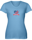 Superhero Heart Ladies V-Neck T-Shirt - COLORS