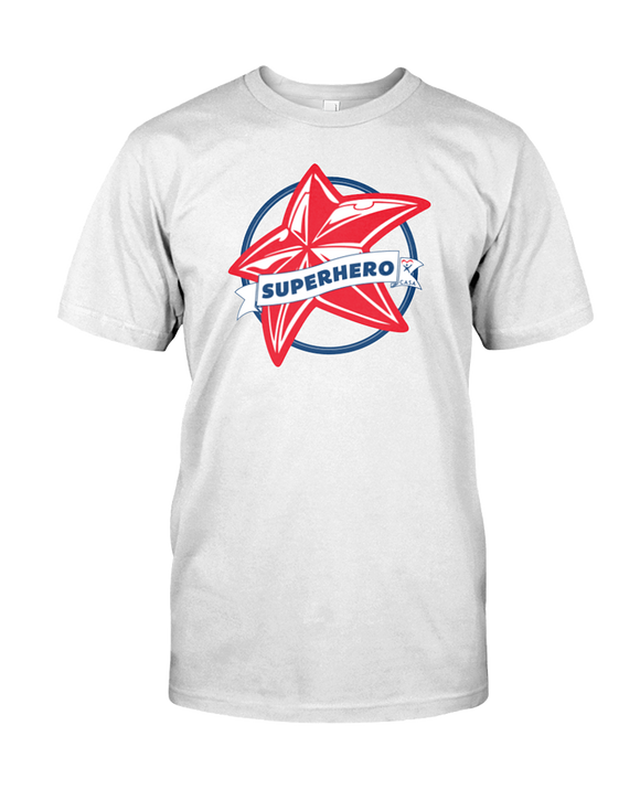 Superhero Star Unisex T-Shirt - WHITE
