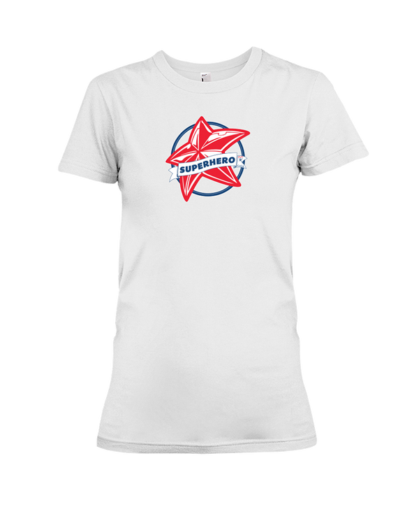 Superhero Star Ladies T-Shirt - WHITE