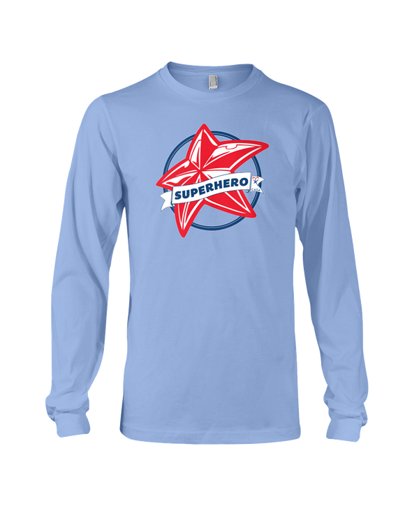 Superhero Star Unisex Long Sleeve T-Shirt - COLORS