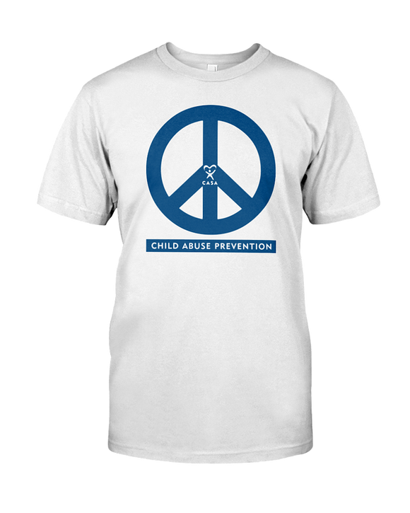 Peace - Child Abuse Prevention White Shirt
