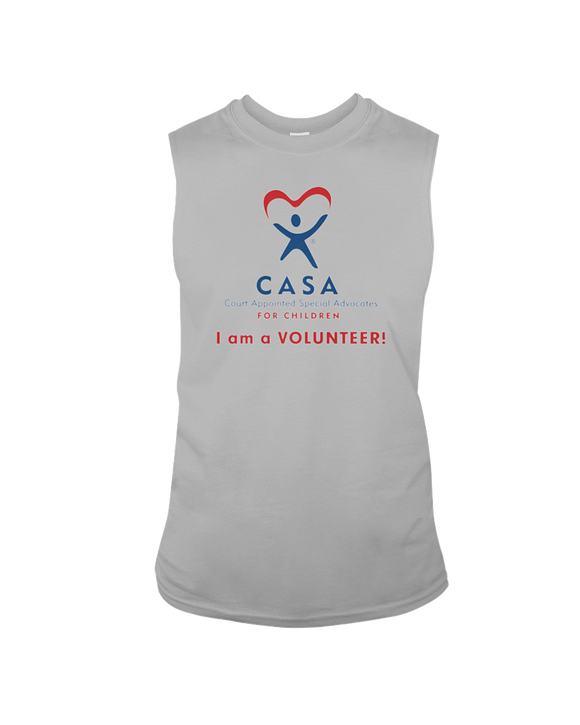 CASA - I Am a Volunteer, Sleeveless T-Shirt, Light Colors