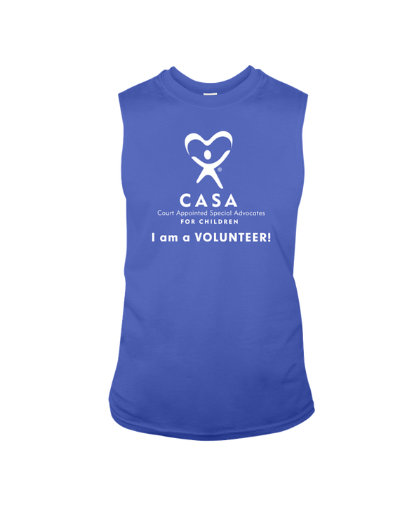 CASA - I Am a Volunteer, Sleeveless T-Shirt, Dark Colors