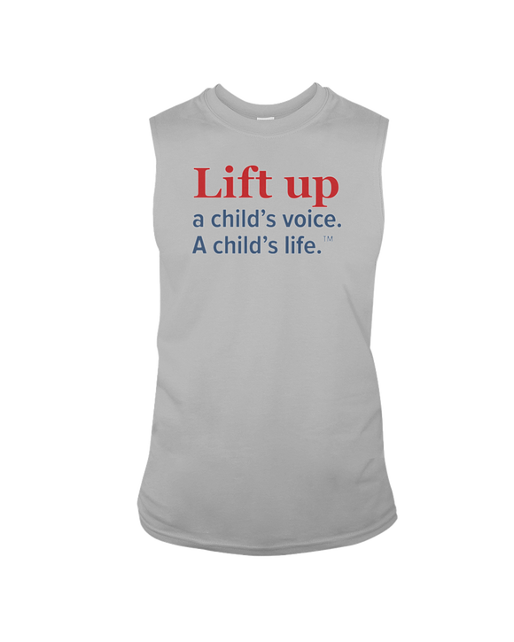 Lift Up a Child's Voice, A Child's Life - Sleeveless T-Shirt, Light Colors