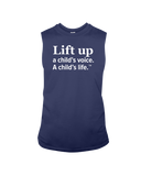 Lift Up a Child's Voice, A Child's Life - Sleeveless T-Shirt, Dark Colors