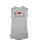 Peace Love CASA - Sleeveless T-Shirt, Light Colors