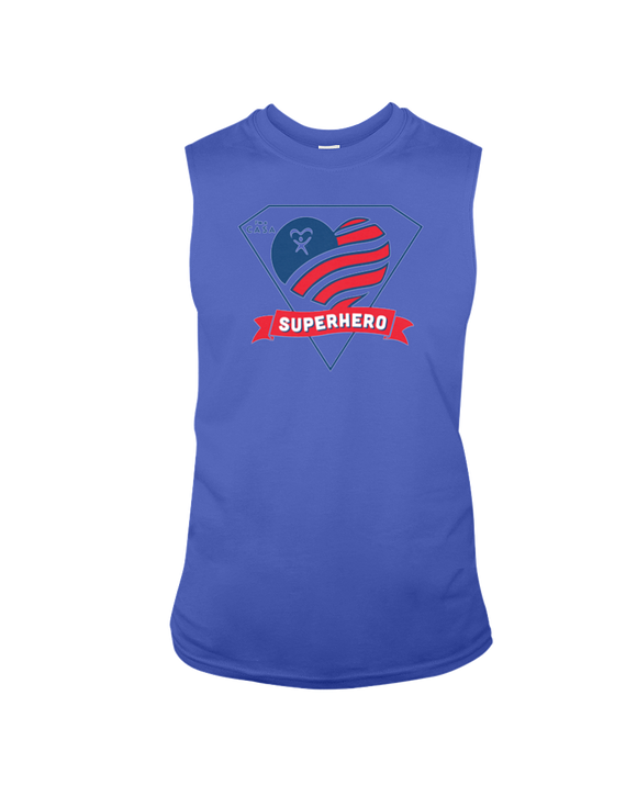 Superhero Heart - Sleeveless T-Shirt