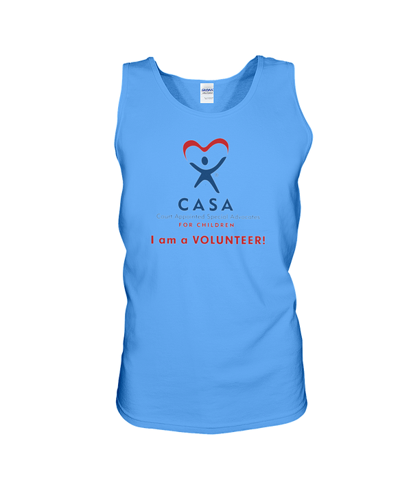 CASA Logo, I Am a Volunteer - Tank Top, Light Colors