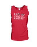 Lift Up a Child's Voice, a Child's Life - Tank Top, Dark Colors
