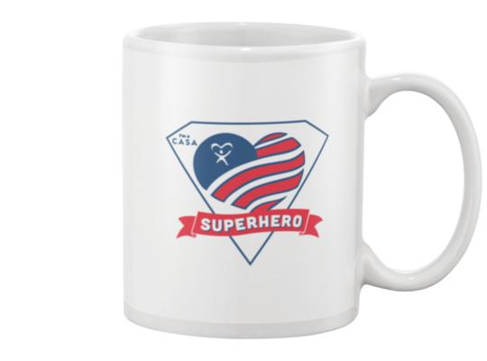 Superhero Heart Mug - White