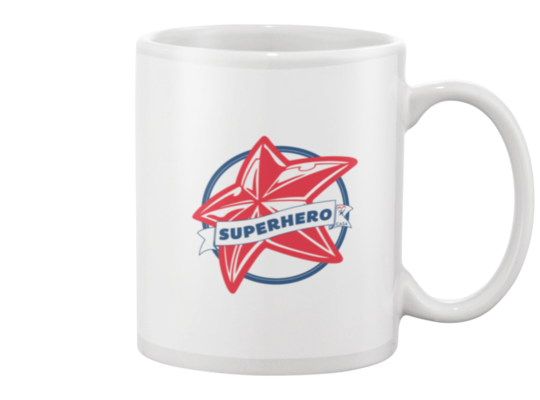 Superhero Star Mug - White