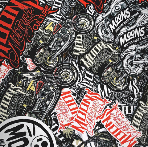 MOONSMC® Die Cut Sticker Pack, Stickers, MOONS, MOONSMC® // Moons Motorcycle Culture