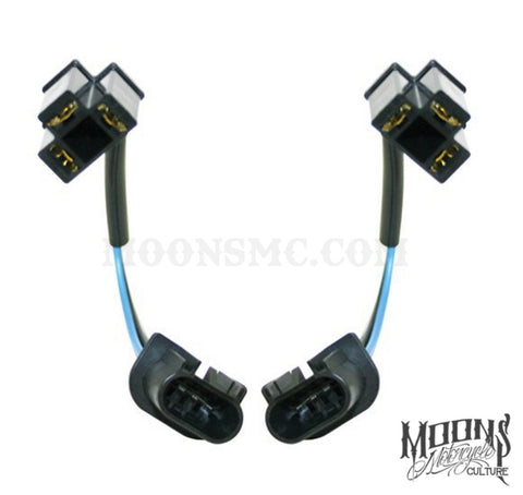 H13 to H4 MOONSMC® Headlight Conversion Cable - Pair, Lighting, MOONS, MOONSMC® // Moons Motorcycle Culture