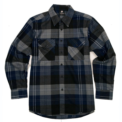 Yago Flannels - Blue Widow Men's Longsleeve Flannel Shirt, Apparel, Yago, MOONSMC // Moons Motorcycle Culture