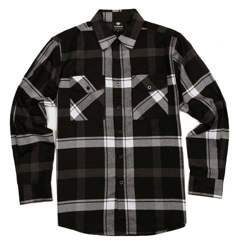 Yago Flannels - K-Train Men's Longsleeve Flannel Shirt, Apparel, Yago, MOONSMC // Moons Motorcycle Culture