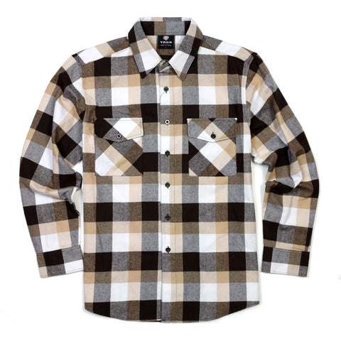 Yago Flannels - Kali Dog Men's Longsleeve Flannel Shirt, Apparel, Yago, MOONSMC // Moons Motorcycle Culture