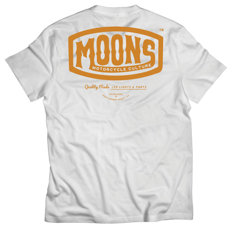 MOONSMC® Vintage Badge White Shirt