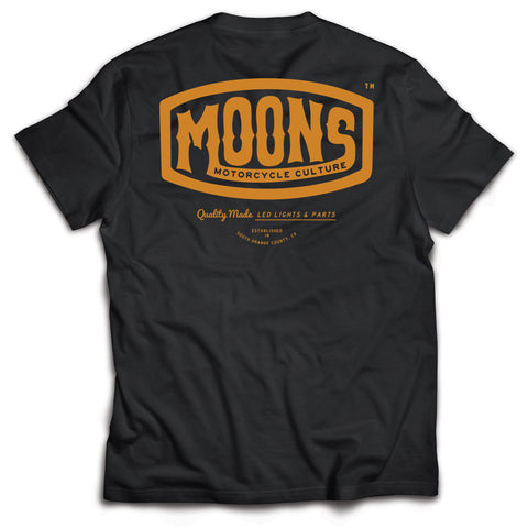 MOONSMC® Vintage Badge Black Shirt