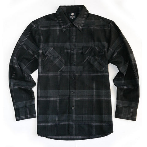 Yago Flannels - Blackwater Men's Longsleeve Flannel Shirt, Apparel, Yago, MOONSMC // Moons Motorcycle Culture