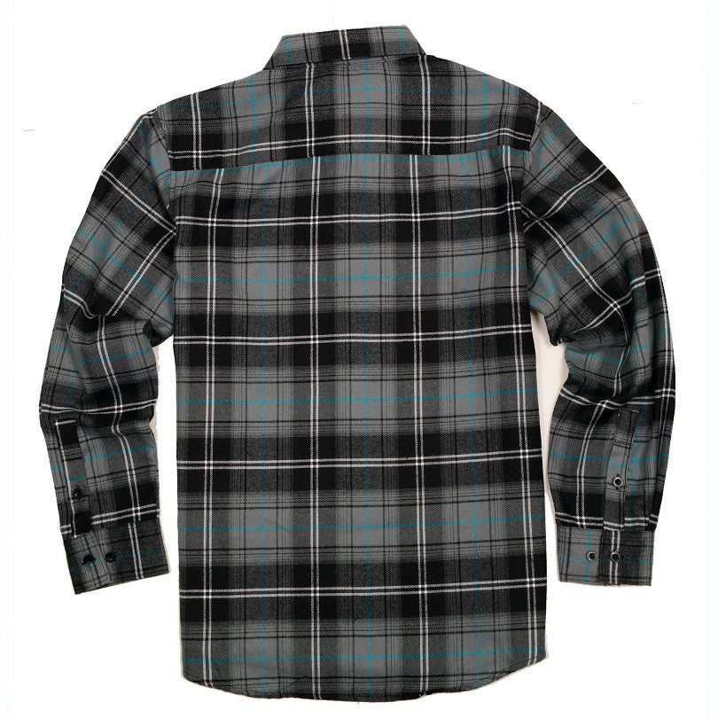 Yago Flannels - Blue Diamond Men's Longsleeve Flannel Shirt, Apparel, Yago, MOONSMC // Moons Motorcycle Culture