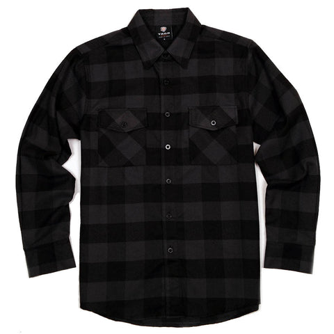 Yago Flannels - Black Ops Men's Longsleeve Flannel Shirt, Apparel, Yago, MOONSMC // Moons Motorcycle Culture