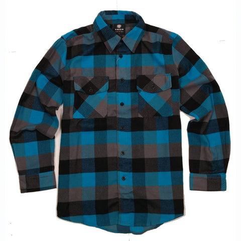 Yago Flannels - Blue Dream Men's Longsleeve Flannel Shirt, Apparel, Yago, MOONSMC // Moons Motorcycle Culture