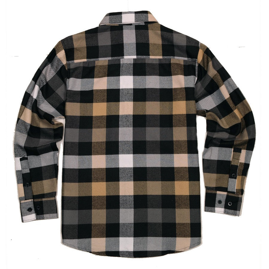 Yago Flannels - Cali Gold Men's Longsleeve Flannel Shirt, Apparel, Yago, MOONSMC // Moons Motorcycle Culture