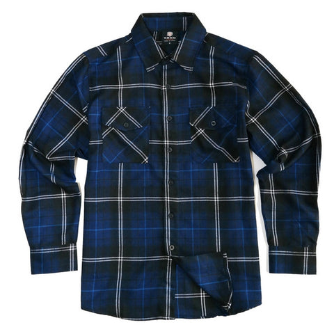 Yago Flannels - Grand Hustle Men's Longsleeve Flannel Shirt, Apparel, Yago, MOONSMC // Moons Motorcycle Culture