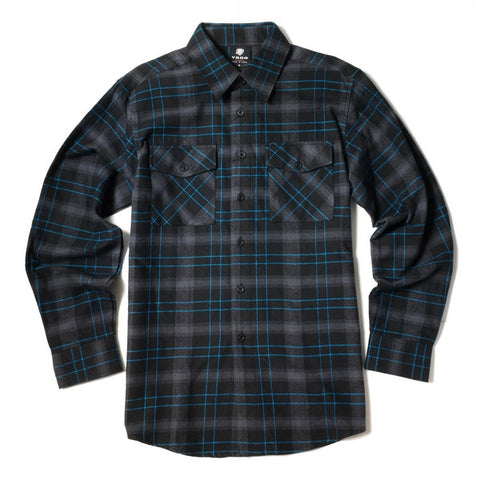 Yago Flannels - Grimace Men's Longsleeve Flannel Shirt, Apparel, Yago, MOONSMC // Moons Motorcycle Culture