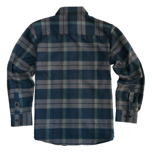 Yago Flannels - Huckleberry Men's Longsleeve Flannel Shirt, Apparel, Yago, MOONSMC // Moons Motorcycle Culture