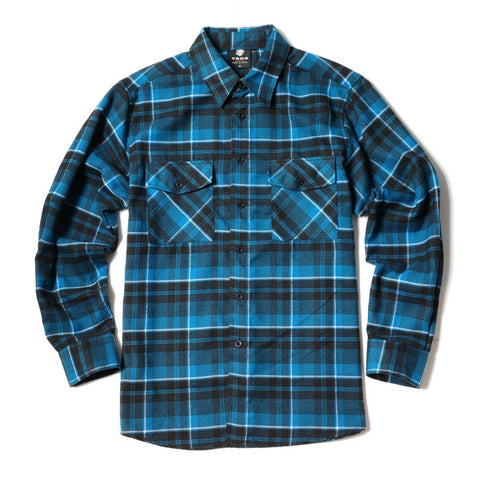 Yago Flannels - Liberty Haze Men's Longsleeve Flannel Shirt, Apparel, Yago, MOONSMC // Moons Motorcycle Culture