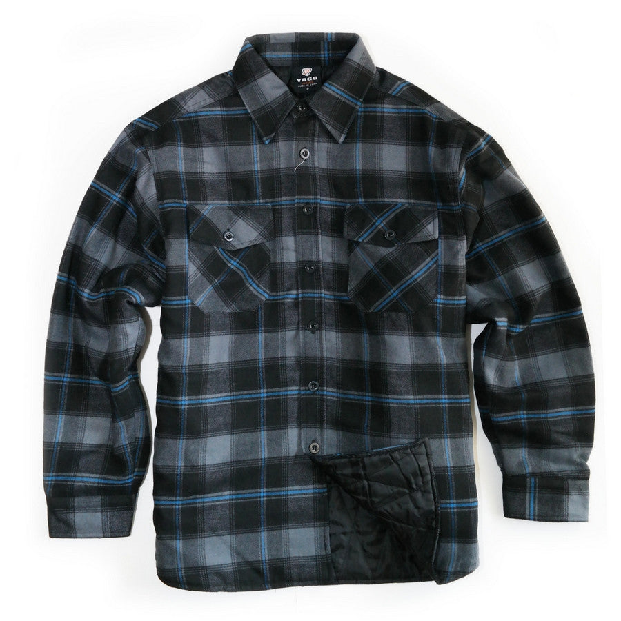 Yago Flannels G13 Mens Quilted Lined Flannel Shirt Moonsmc