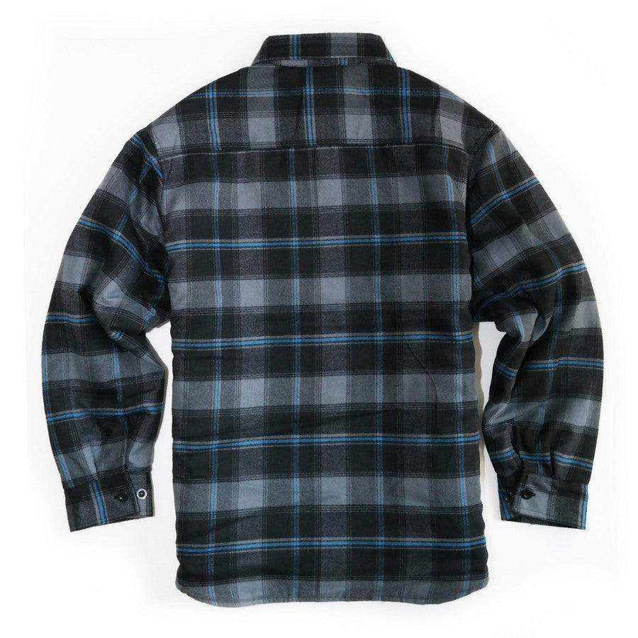 Yago Flannels - G13 Men's Quilted Lined Flannel Shirt – MOONSMC ... : quilted lined flannel shirt - Adamdwight.com
