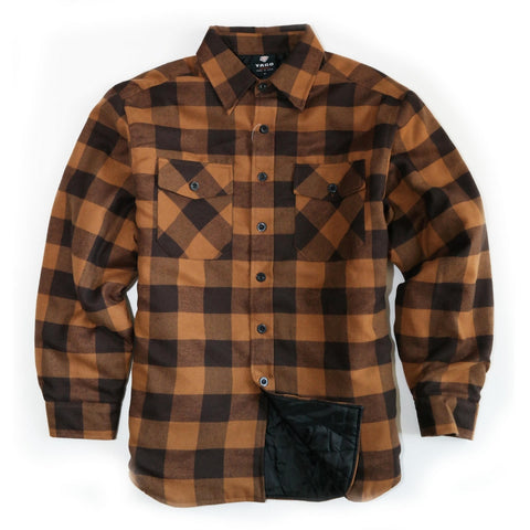 Yago Flannels - Golden Goat Men's Quilted Lined Flannel Shirt
