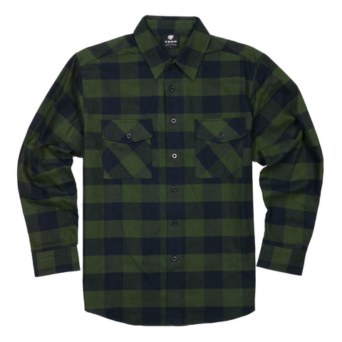 Yago Flannels - Master Yoda Men's Longsleeve Flannel Shirt, Apparel, Yago, MOONSMC // Moons Motorcycle Culture