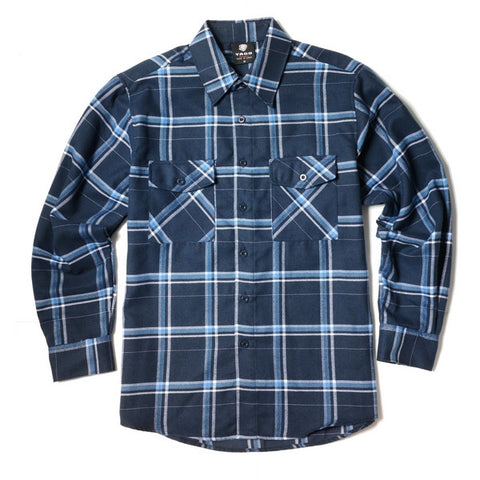 Yago Flannels - Shoreline Men's Longsleeve Flannel Shirt, Apparel, Yago, MOONSMC // Moons Motorcycle Culture