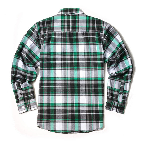 Yago Flannels - Chong Star Men's Longsleeve Flannel Shirt, Apparel, Yago, MOONSMC // Moons Motorcycle Culture