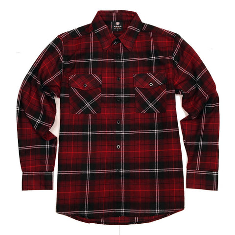 Yago Flannels - Southern Cherry Men's Longsleeve Flannel Shirt, Apparel, Yago, MOONSMC // Moons Motorcycle Culture