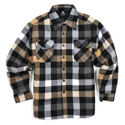 Yago Flannels - Cali Gold Men's Quilted Lined Flannel Shirt, Apparel, Yago, MOONSMC // Moons Motorcycle Culture