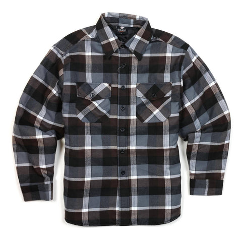 Yago Flannels - Lodi Dodi Men's Quilted Lined Flannel Shirt, Apparel, Yago, MOONSMC // Moons Motorcycle Culture