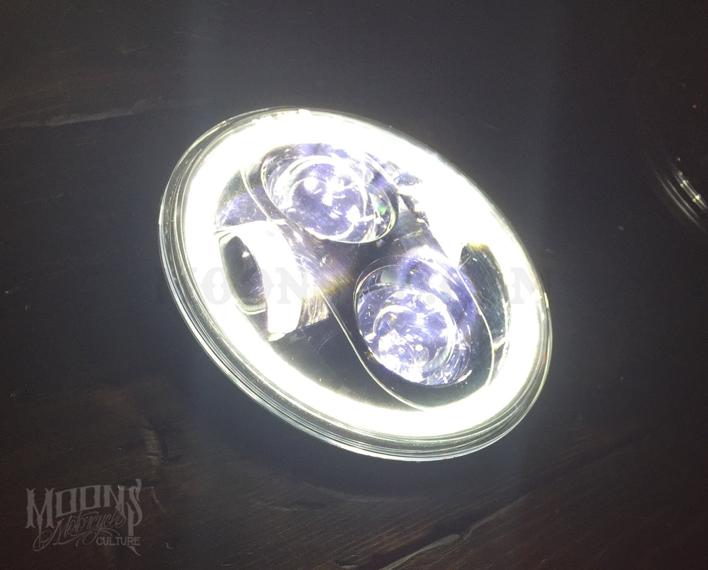 5.75 MOONSMC® HALO Series OG Moonmaker LED Headlight, Lighting, MOONS, MOONSMC® // Moons Motorcycle Culture