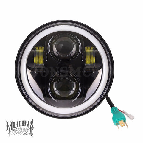 5.75 MOONSMC® HALO Series Moonmaker LED Headlight, Lighting, MOONS, MOONSMC // Moons Motorcycle Culture
